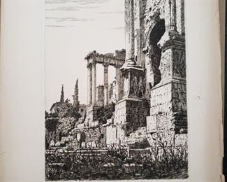 Etching, signed lower right