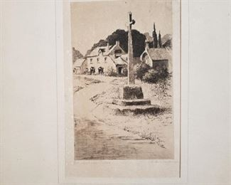 C. Dickens signed etching