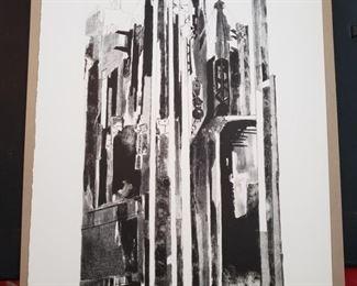 """Steel Forest"" lithograph by Bertram Goodman"
