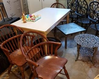 Armchairs and table