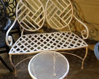 Patio settee and table