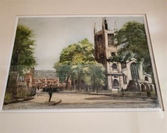 Etching by Edward King colored by Cecil Tatton Winter
