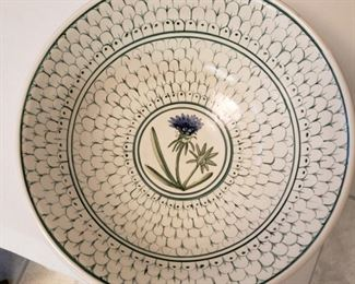 Hellmuth & Dunn Co. hand painted pottery bowl, St. Louis Company