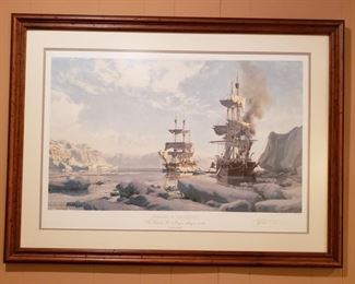 """John Stobart """"Whaling the Arctic""""  signed and numbered 101/850"""