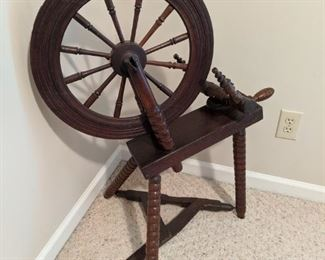 Antique Flax Wheel