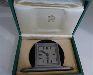 Art Deco 8 day Cartier Clock in original box