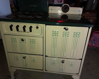 CREAM GREEN GAS COOK STOVE