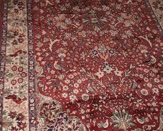Beautiful silk & wool rug