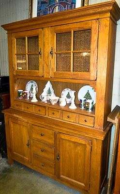 Buffet with glass doors and drawers