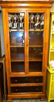 Glass cabinet AND Nutcrackers