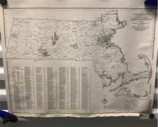 Cleartype County-Town Massachusetts Map