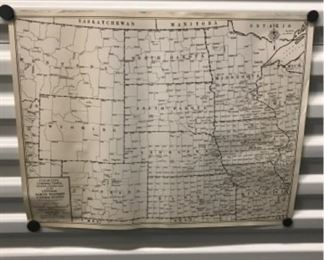Cleartype County-Town Trading Center Map-Central North Western U.S. Map