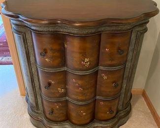 Like new, three drawer Bombay chest