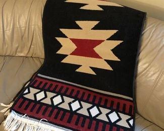 Scandavian flatweave rug.