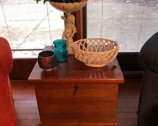 Nice wood storage end table.