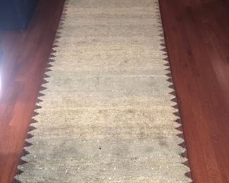 Thick wool rug runner.
