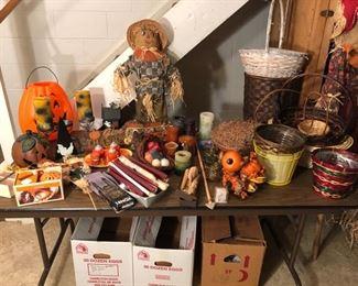 Halloween and fall decor.