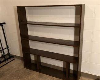 Large wood bookcase.