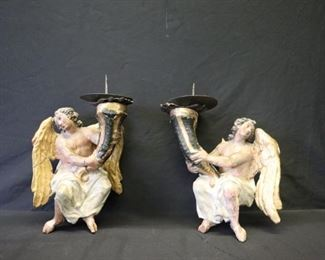 A Pair Of th Century Northern Italian Polychrome