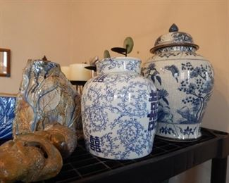 Chinese ginger jars and other pottery