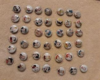 Kellogg Pep Pins, Comic Characters