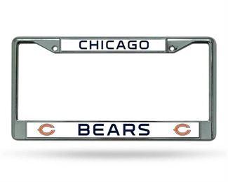 NFL Chicago Bears Chrome Licensed Plate Frame