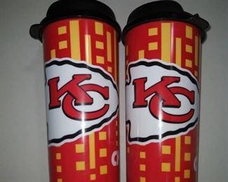 2- Nfl Kansas City Chiefs Travel Cups, 16-ounce