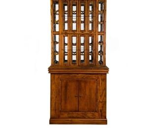 A.N. Russell & Sons Co. Oak Ribbon Cabinet with Custom Oak Base