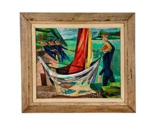 Howard Mandel Original Acrylic Framed Painting