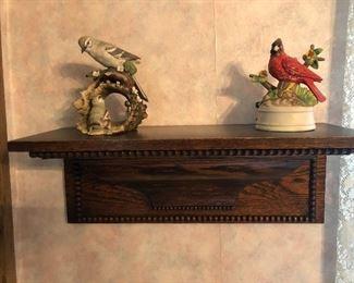 Victorian clock shelf