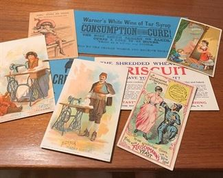 Antique Victorian Trade Cards & Blotters