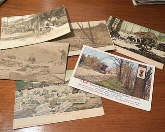 Large selection of antique postcards