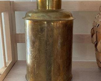Antique Brass Tea Caddy
