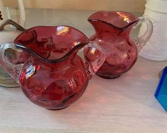 Antique Cranberry glass