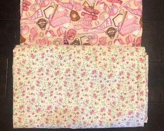 Large pieces, flower fabric is 6+ yards