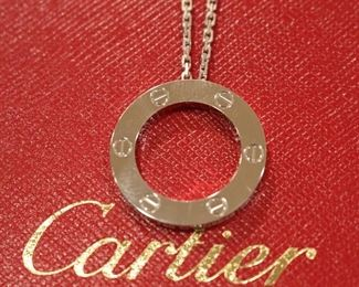 "Cartier 18k ""LOVE"" neckalce"