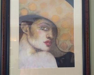 """Ramon Santiago """"LaBella"""" lithographic print"""