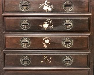 Thai Mother of Pearl Inlaid Drawers