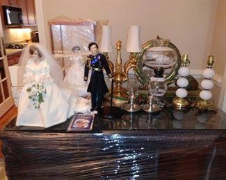 Princess Di,  and Prince Charles Dolls