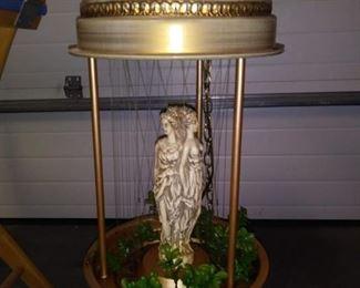Vintage Greek Goddess Oil Rain Drip Motion Lamp