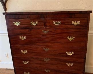 Vintage Tigerwood 6 Drawer Chest