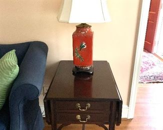 Vintage Solid Wood Pembroke End Table