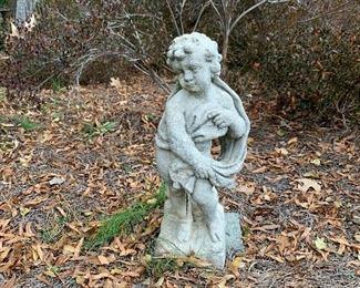 Cement Child Statue