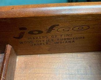 jofco  wood executive desk