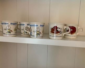 Charlie Brown and Snoopy Mugs