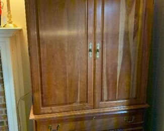 Solid Cherry Entertainment Cabinet...the wood is beautiful if you like to re-purpose...this piece is for you!
