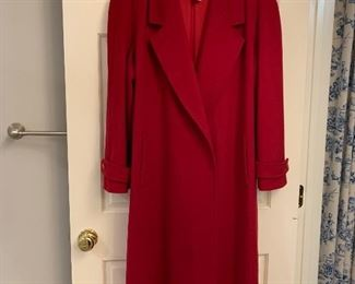 The Perfect Red Wool Holiday Coat