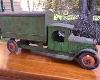 Tin-type truck with original finish
