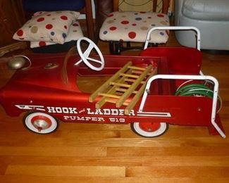 The coolest vintage Pedal Fire Truck