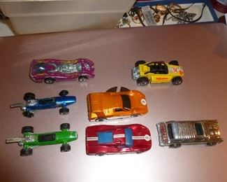 Found 7 Redline Hotwheels in the case..nice, but played with condition. Pic of case, which is like new, is next,
